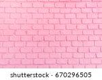 Pastel Pink Brick Background...