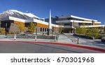 canmore  alberta  canada  ... | Shutterstock . vector #670301968