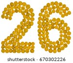 Arabic Numeral 26  Twenty Six ...