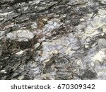 Stone Rock Fragment Of A Wall...