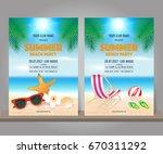 set of summer beach party... | Shutterstock .eps vector #670311292