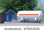 liquid propane gas station. lpg ... | Shutterstock . vector #670314232