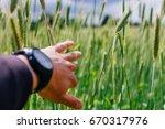 human going through ray field...   Shutterstock . vector #670317976