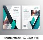 blue brochure template layout... | Shutterstock .eps vector #670335448