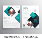 modern blue brochure cover... | Shutterstock .eps vector #670335466