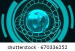 technology concept abstract... | Shutterstock . vector #670336252
