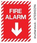 emergency exit  fire... | Shutterstock .eps vector #670343296