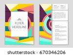 abstract vector layout... | Shutterstock .eps vector #670346206