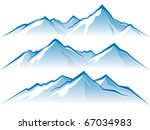 mountains | Shutterstock .eps vector #67034983