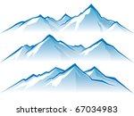 mountains | Shutterstock .eps vector #67034983