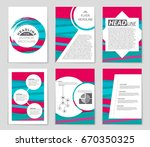 abstract vector layout...   Shutterstock .eps vector #670350325
