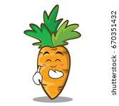 blush carrot character cartoon... | Shutterstock .eps vector #670351432