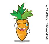 sweat smile carrot character... | Shutterstock .eps vector #670351675