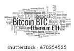 crypto currencies with a... | Shutterstock . vector #670354525