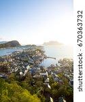 alesund skyline  norway | Shutterstock . vector #670363732