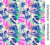 exotic seamless tropical... | Shutterstock .eps vector #670364152