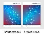 scientific brochure design... | Shutterstock .eps vector #670364266