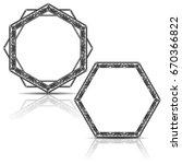 silhouette carved frame for... | Shutterstock .eps vector #670366822