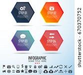 infographics design template... | Shutterstock .eps vector #670370752