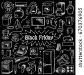 black friday household... | Shutterstock .eps vector #670376905