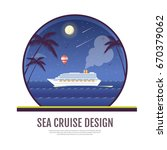flat style design of cruise... | Shutterstock .eps vector #670379062