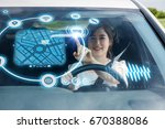 heads up display  hud  of... | Shutterstock . vector #670388086