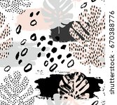 abstract drawing in... | Shutterstock .eps vector #670388776