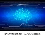abstract brain with circuit... | Shutterstock .eps vector #670395886