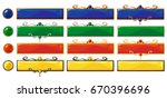 cartoon vector title colorful... | Shutterstock .eps vector #670396696