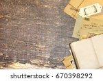 grunge background with retro...   Shutterstock . vector #670398292