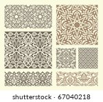 background with seamless... | Shutterstock .eps vector #67040218
