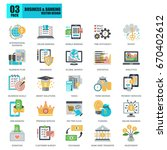 flat conceptual icons pack... | Shutterstock .eps vector #670402612