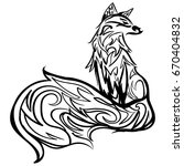 stylized fox. forest animals.... | Shutterstock .eps vector #670404832