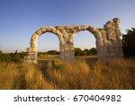 burnum   old roman arc in... | Shutterstock . vector #670404982