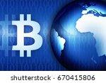 bitcoin sign. money and finance ... | Shutterstock . vector #670415806