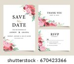 wedding invitation card... | Shutterstock .eps vector #670423366