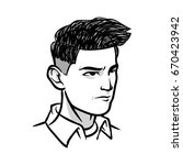 male hairstyle collection with... | Shutterstock .eps vector #670423942