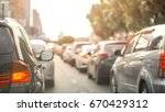 car and traffic jam concept  ... | Shutterstock . vector #670429312