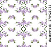 vintage seamless pattern with... | Shutterstock . vector #670429756