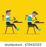 rules for kids. good manners... | Shutterstock .eps vector #670432525