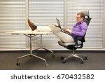 caucasian man working with... | Shutterstock . vector #670432582