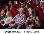 shot of cinema auditorium full... | Shutterstock . vector #670438846