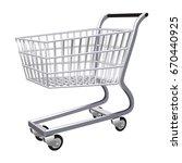 shopping cart vector on white...   Shutterstock .eps vector #670440925