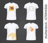 original print for t shirt. t...   Shutterstock .eps vector #670444366