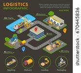 logistic infographic set with... | Shutterstock .eps vector #670445836