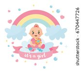 """it's a girl"" shower card.... 
