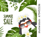 summer sale vector design with...   Shutterstock .eps vector #670452136
