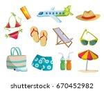 summer  vacation on the beach ... | Shutterstock .eps vector #670452982