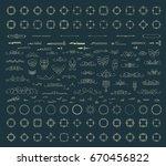 huge rosette wicker border... | Shutterstock .eps vector #670456822