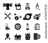 auto repair icons set. simple...